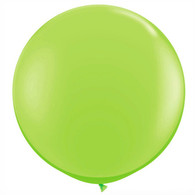 Latex Round 90cm Fashion Lime Green Balloon | Qualatex