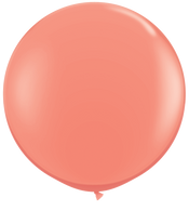 Latex Round 90cm Fashion Coral Balloon | Qualatex