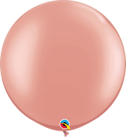 Latex Round 90cm Pearl Rose Gold Balloon | Qualatex