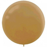 Latex Round 60cm Pearl Gold Balloon | Amscan