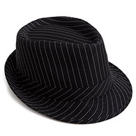 Fedora Pinstripe Black Hat | Trademart