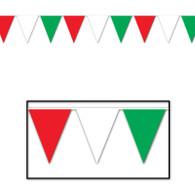 Italian Colours Indoor/Outdoor Pennant Banner | Beistle