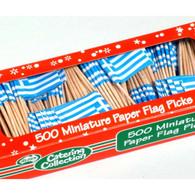 Greece Paper Flag Pick 500 box | Alpen