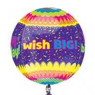 Orbz Happy Birthday 'wish big' Balloon   Anagram