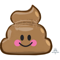 Foil Supershape Emoji 'Poop'  Balloon | Anagram