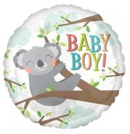 Foil Round Baby Boy Koala Balloon | Anagram