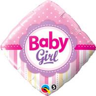 Foil Diamond Baby Girl Balloon | Qualatex