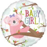 Foil Round Baby Girl Koala Balloon | Anagram