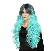 Gothic Glamour Teal Green Wig | Smiffy's
