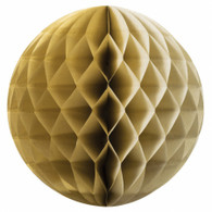 Honeycomb Ball Gold 35cm | Five Star Party Decor