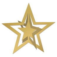 3-D Foil Gold Star Cutouts | Beistle