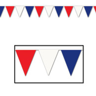 Red, White & Blue  Outdoor Pennant Banner | Beistle