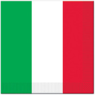 Italian Flag Luncheon Napkins | Beistle