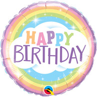 Foil Round Happy Birthday Pastel Balloon | Qualatex