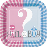 Gender Reveal Boy or Girl Snack Plates | Unique