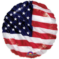 American Flag Round Foil Balloon | Anagram