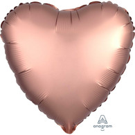 Foil Heart Luxe Satin Rose Gold Balloon | Anagram