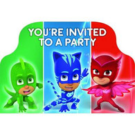PJ Masks Party Postcard Invitations | Amscan