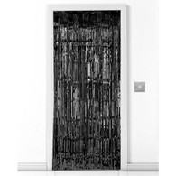 Door Curtain Metallic Black | Zstar