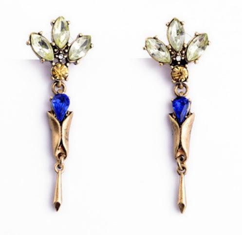 FE2618 - Blue Drop Earring by FAB