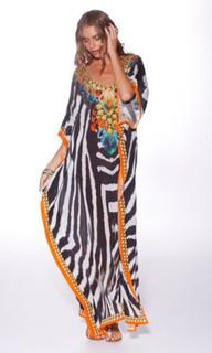 Ladies Dresses Online | Tanzania Long Kaftan | HONEY & BEAU