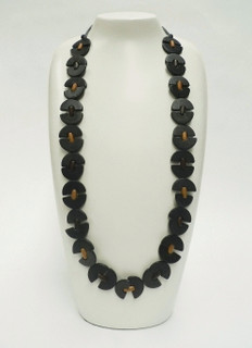Women's Jewellery Online | FN2588 - Black Long Chain Necklace | FAB