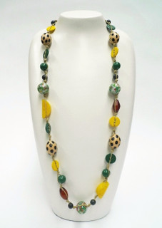 Women's Jewellery in Australia | FN2592 - Multi Coloured Long Necklace  | FAB