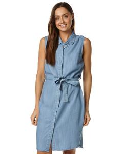 Ladies Dresses Online   Chambray Sleeveless Dress   SASS