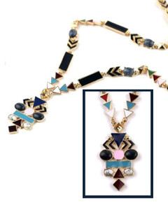 Women's Necklaces Online | FN2605 - Art Deco Necklace | FAB