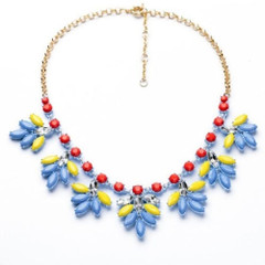 Women's Accessories in Australia | FN2606 - Blue and Red Necklace | FAB