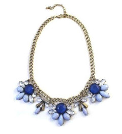 Women's Accessories in Australia | FN2608 - Silver and Blue Necklace | FAB