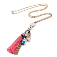 Women's Necklaces | FN2602 - Long Tassel Necklace | FAB