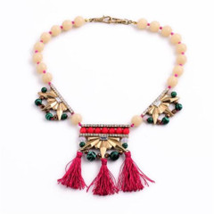 Women's Necklaces | FN2604 - Short Tassel Necklace | FAB