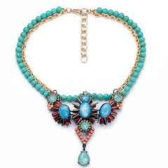 Women's Accessories In Australia | FN2612- Aqua Choker Necklace | FAB