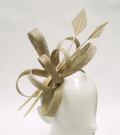 Women's Fascinators | FH2300 - Gold Arrow Fascinator | FAB