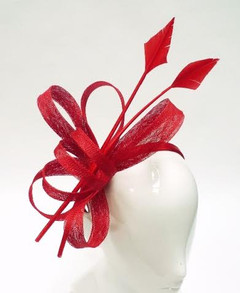 Women's Fascinators | FH2300R - Red Arrow Fascinator | FAB