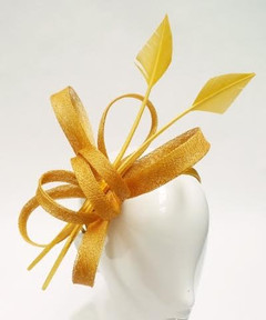 Women's Fascinators | FH2300Y - Yellow Arrow Fascinator | FAB