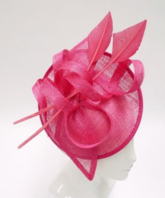 Women's Fascinators in Australia | FH2306- Large Pink Arrow Fascinator | FAB