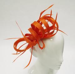 Women's Fascinators | FH3070O - Orange Swirl Fascinator | FAB