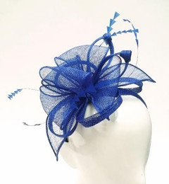 Women's Fascinators | FH2309BLU - Large Blue Fascinator | FAB