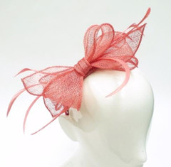 Women's Fascinators in Australia | FH23010A - Pink Bow Fascinator | FAB