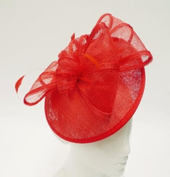 Women's Fascinators Online | FH2311 - Large Red Fascinator | FAB