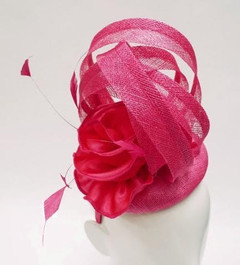 Women's Fascinators Online | FH2312 - Pink Statement Fascinator | FAB