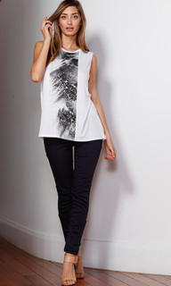Women's Tops | Geena Graphic Tank | FATE