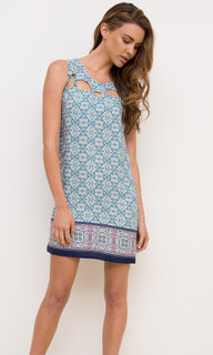 Ladies Dresses | EM22 Cut Out Shift Dress | ELLY M