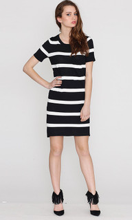 Ladies Dresses | Stripe Knit Tee | HONEY & BEAU