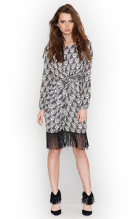Ladies Dresses | Zaneta Tassel Frill Dress | HONEY & BEAU
