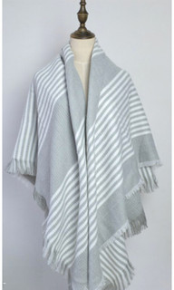 Women's Accessories | FA2800 - Grey Stripe Shawl | FAB