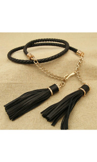 Women's Accessories Online | FN509 - Black Tassel Necklace | FAB