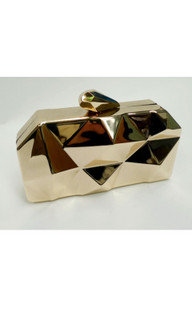 Women's Bags | ON519 - Gold Clutch | FAB